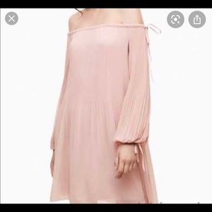 Brand new Aritzia off the shoulder pleated dress